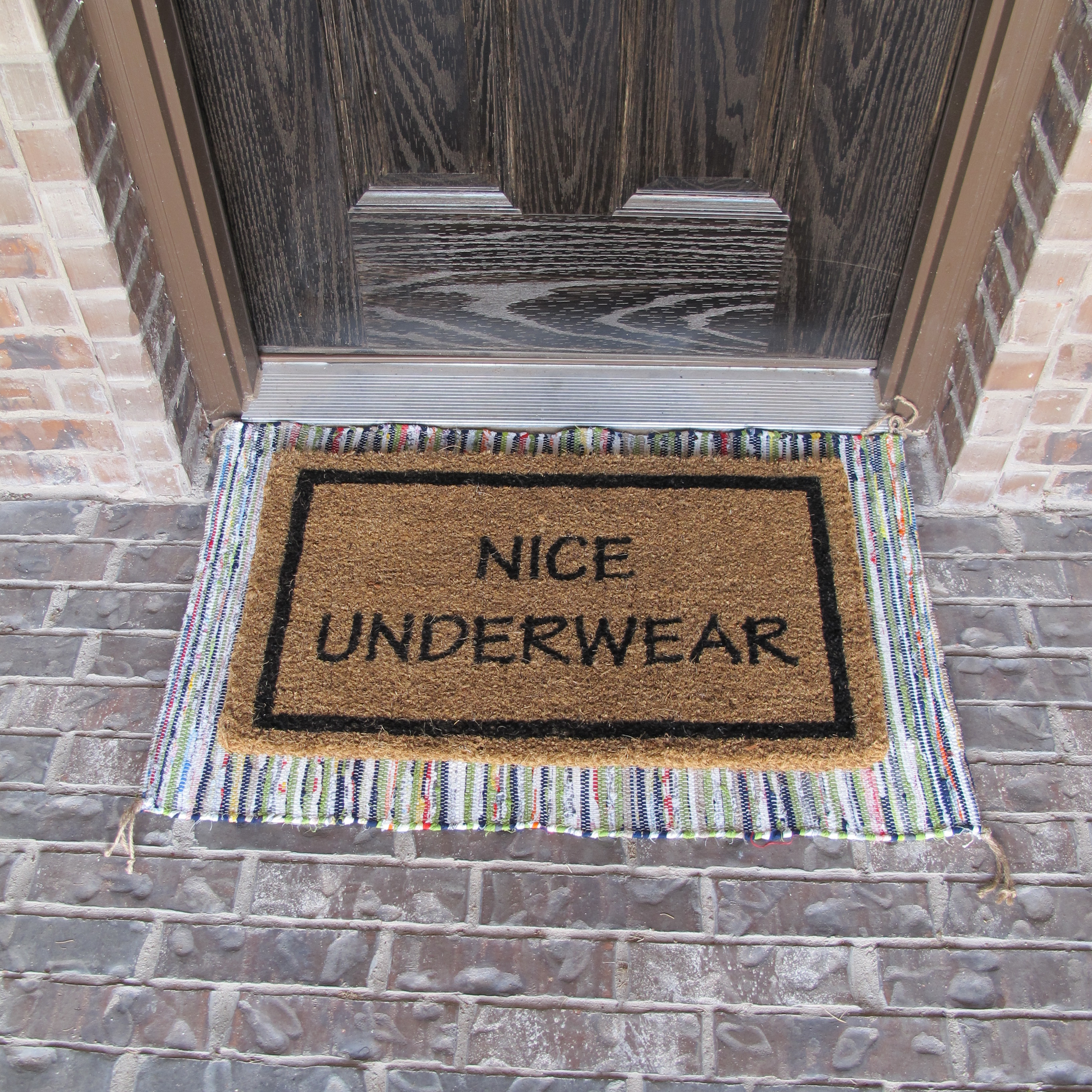 funny mats pin a oh doormat door shit smile not puts on my face you again