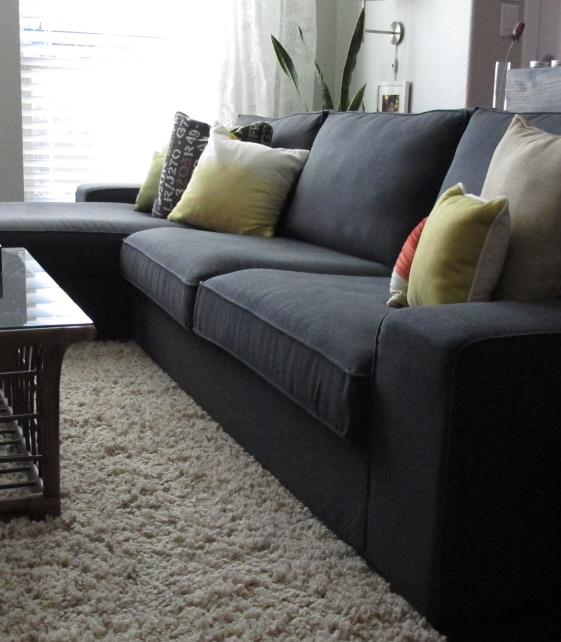Kivik two seat sofa and chaise lounge dansbo dark grey for Another name for chaise lounge
