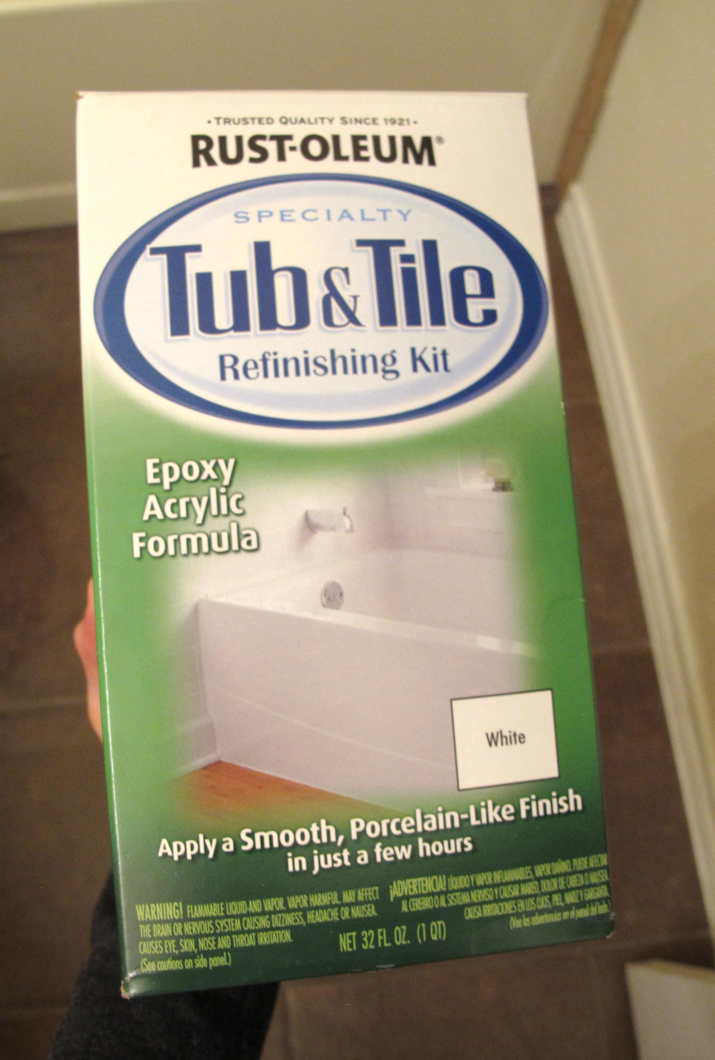 Rustoleum tile painting kit | Operation Home
