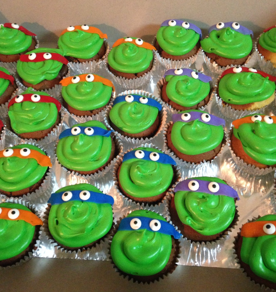Easy Ninja Turtle Cupcakes Operation Home